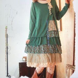 Mori Girl Casual Vintage Patchwork Plaid Dress